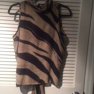 Tiger Stripe Silk Blouse